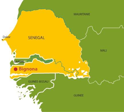 Carte de Bignona